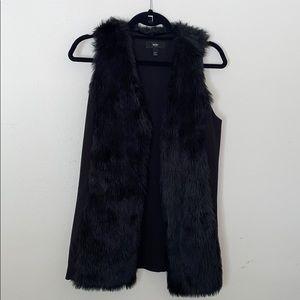 Faux fur black vest